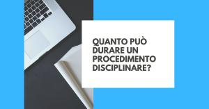 procedimento disciplinare termini